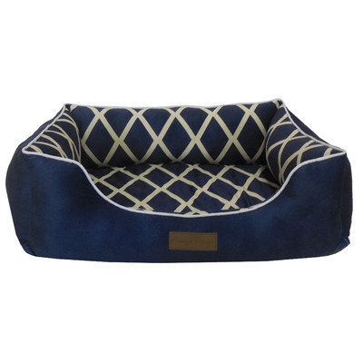 Home Dynamix Comfy Pooch Bed Bolster Color: Navy Blue, Size: Small (20