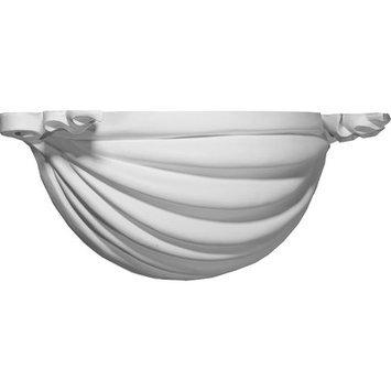 Ekena Millwork Ribbon 19.875-in x 6.625-in Polyurethane Sconce SCO19X08X06RI