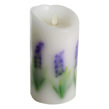 Luminara Purple Flower Embedded Flameless 7