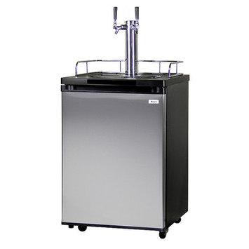Kegco K209SS-2 Full Size Kegerator - Double Faucet - D System - Stainless Door