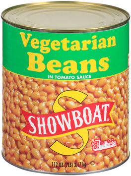 Showboat® Vegetarian Beans in Tomato Sauce 112 oz. Can