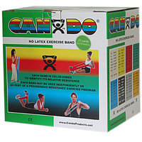 CanDo 10-5633 Latex Free Exercise Band 25 Yard Roll Green Medium