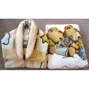 Home Sensation Baby Snuggle and Baby Blanket Set 2 Pieces Color: Beige