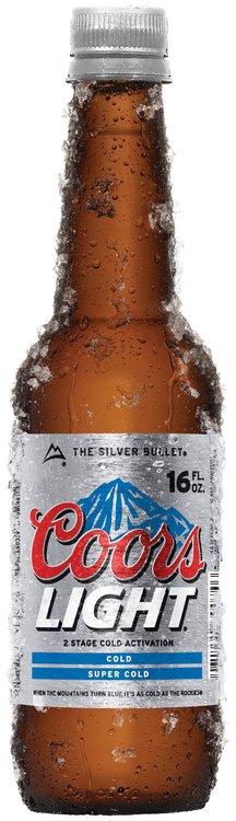Coors Light Insulating Bottle Beer 16 Fl Oz Plastic Bottle