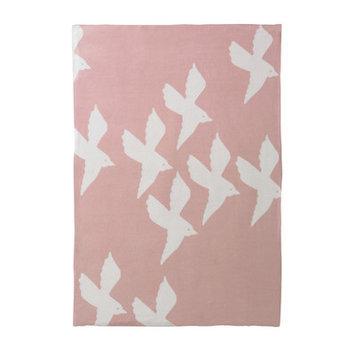 Dwellstudio Birds Petal Graphic Knit Blanket