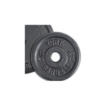 York Barbell Contour Cast Iron Plate Weight: 2.5 lbs
