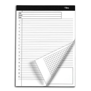 TOPS BUSINESS FORMS Docket Gold Planning Pad, Ruled, 4 40-Sheet Pads/Pack