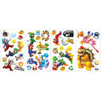 Global Holdings Nintendo - Super Mario Bros. Wii Peel and Stick Wall Decals