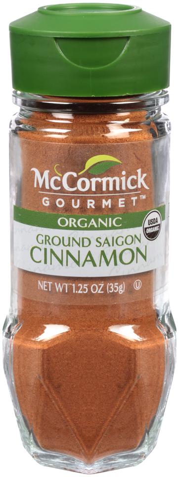 McCormick Gourmet™ Organic Ground Saigon Cinnamon 1.25 oz. Shaker