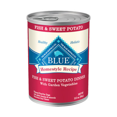 THE BLUE BUFFALO CO. BLUE™ Homestyle Recipe® Fish & Sweet Potato Dinner with Garden Vegetables For Adult Dogs