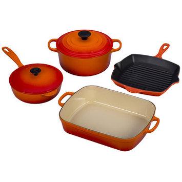 Le Creuset Signature 6-Piece Cookware Set Color: Flame