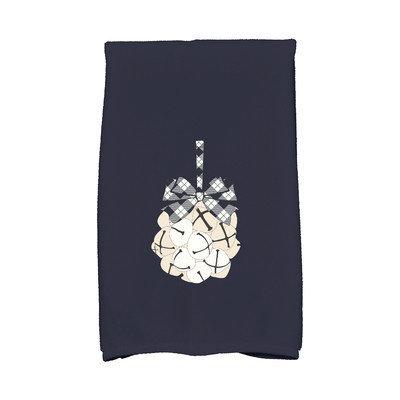 E By Design Jump for Joy Jingle Bells Hand Towel Color: Blue
