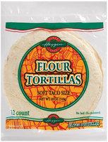Haggen Soft Taco Size 12 Ct Flour Tortillas 18 Oz Bag