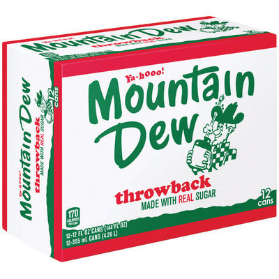 Mountain Dew® Throwback 3x4 12 Pack 12 fl. oz. Cans