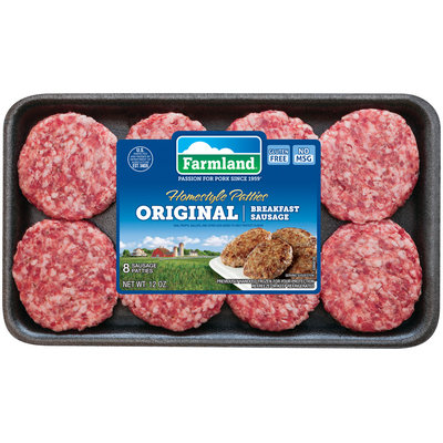 Farmland® Original Breakfast Sausage Homestyle Patties 8 ct Tray