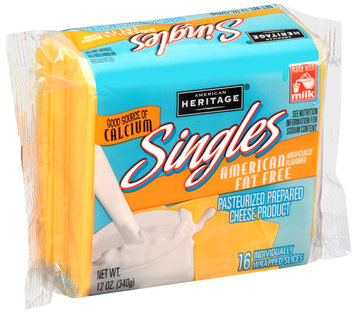 American Heritage® American Fat Free Cheese Singles 16 ct Pack