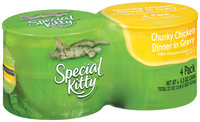 Special Kitty® Chunky Chicken Dinner in Gravy Cat Food 4-5.5 oz. Cans