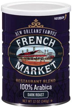 French Market® Restaurant Blend Dark Roast Ground Coffee 12 oz. Canister