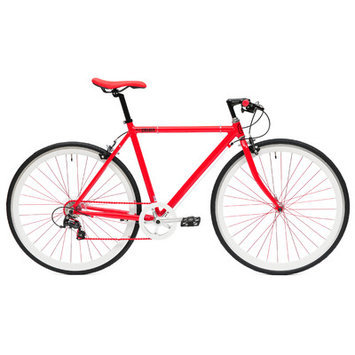 Ideacycle C8 Gear Road Bike Size: 43cm, Color: Red