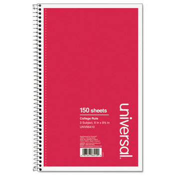 Universal Wirebound Notebook, College Ruled (150 Sheets)