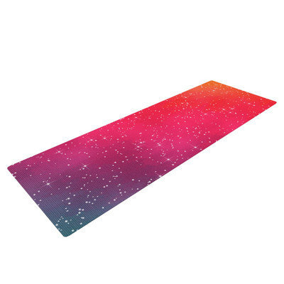 Kess Inhouse Colorful Constellation by Fotios Pavlopoulos Glam Yoga Mat