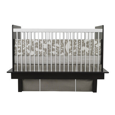 Oilo Modern Berries 3 Piece Crib Set in Taupe