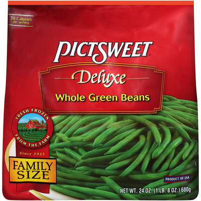 DELUXE Whole Green Beans 24 OZ STAND UP BAG