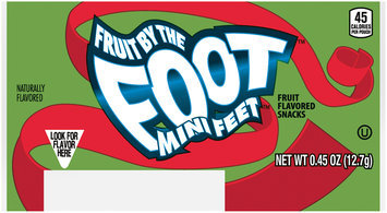 Fruit by the Foot™ Mini Feet™ Fruit Flavored Snacks 0.45 oz. Wrapper