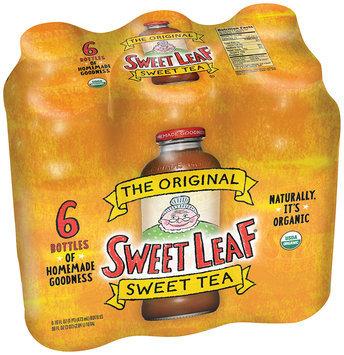 SWEET LEAF USDA-CERTIFIED ORGANIC ICED TEA, Original Sweet Tea 16-ounce glass bottles (Pack of 6)