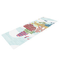 Kess Inhouse Geo Map by Agnes Schugardt Abstract Yoga Mat