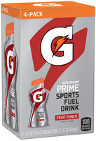 Gatorade® Prime Fruit Punch Sports Fuel Drink 4-4 fl. oz. Pouches