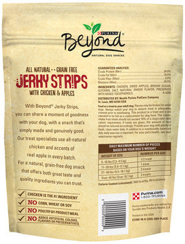 Purina Beyond Jerky Strips with Chicken & Apples Natural Dog Snacks 2.7 oz. Pouch