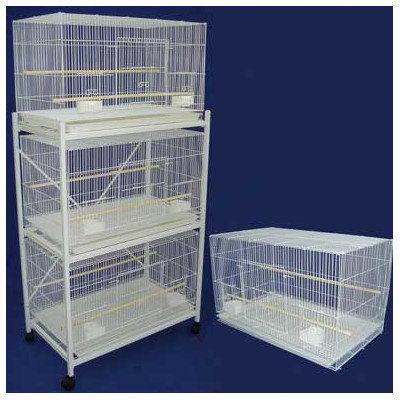 Yml Medium Breeding Cage (Set of 4) Color: Antique Silver