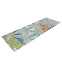 Kess Inhouse Miraculous Recovery by Catherine Holcombe Butterfly Yoga Mat