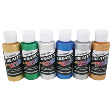 Createx Airbrush Colors, Fluorescent Green
