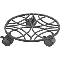 Mintcraft W52156C-3L Plant Stand Dolly 10-1/2-Inch Wrought Iron - Each