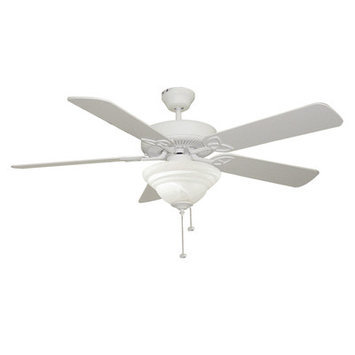 Craftmade International E-BLD52MWW5C1 Builder DeluxE Ceiling Fan - White