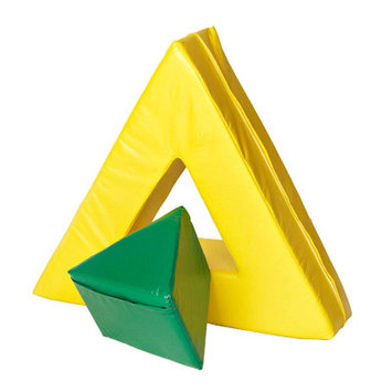 Foamnasium 1056 Triangle in Triangle - Green out or Yellow in