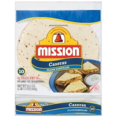 Mission Flour Caseras 23.3 Oz Tortillas 10 Ct Bag