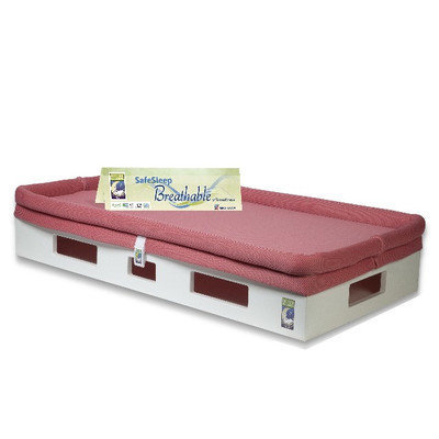 Secure Beginnings Heaven Sent Crib Mattress Sleep Surface (Fuchsia)