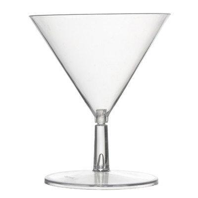 Fineline Settings, Inc Tiny Temptations 2 Oz. Tini Martini Glass (12 Pack) Color: Clear