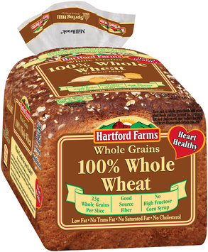 Hartford Farms® 100% Whole Wheat Premium Bread 24 oz. Bag