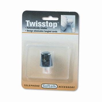 Softalk 1501 Twisstop Rotating Phone Cord Detangler Black