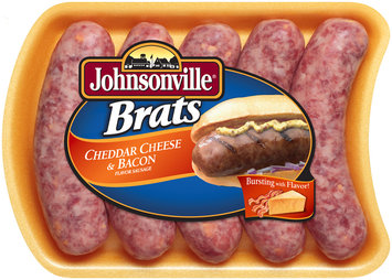 Johnsonville Cheddar Cheese & Bacon Brats 19oz tray (101651) Holiday Promo