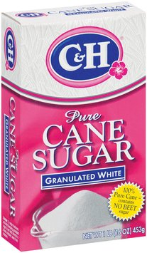 C&H Pure Cane Sugar Granulated White 1 lb Box