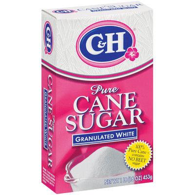 C&H Pure Cane Sugar Granulated White 1 lb Box