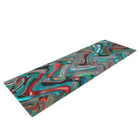 Kess Inhouse Abstract Wave by Suzanne Carter Abstract Yoga Mat