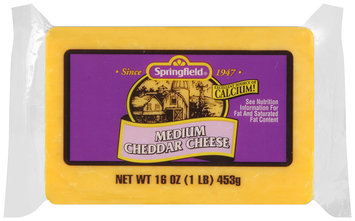 Springfield® Medium Cheddar Cheese 16 oz