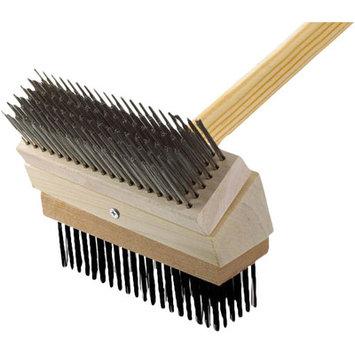 Texas Brush Grill Brush Brush: Stainless/Black Steel
