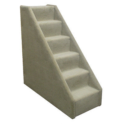Animal Stuff Bear's Stairstm Six-Step Mini Carpeted Pet Stairs - Color: Gray
